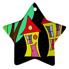 Two houses 2 Ornament (Star)