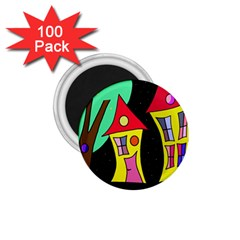 Two houses 2 1.75  Magnets (100 pack)