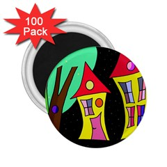Two houses 2 2.25  Magnets (100 pack)