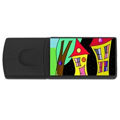Two houses 2 USB Flash Drive Rectangular (1 GB)
