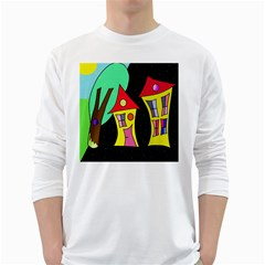 Two houses 2 White Long Sleeve T-Shirts