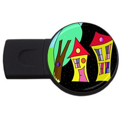 Two houses 2 USB Flash Drive Round (4 GB)