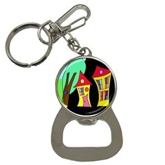 Two houses 2 Bottle Opener Key Chains