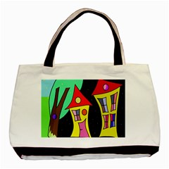 Two houses 2 Basic Tote Bag (Two Sides)