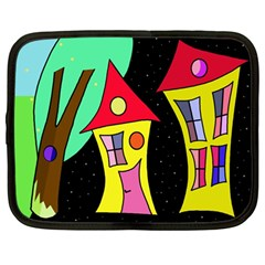 Two houses 2 Netbook Case (Large)