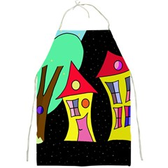 Two houses 2 Full Print Aprons