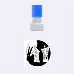 Two houses 2 Rubber Round Stamps (Small)