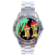 Two houses 2 Stainless Steel Analogue Watch