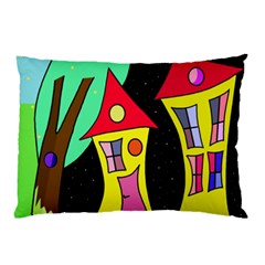 Two houses 2 Pillow Case (Two Sides)