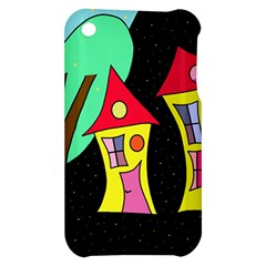 Two houses 2 Apple iPhone 3G/3GS Hardshell Case