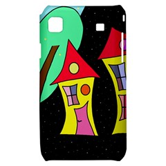 Two houses 2 Samsung Galaxy S i9000 Hardshell Case
