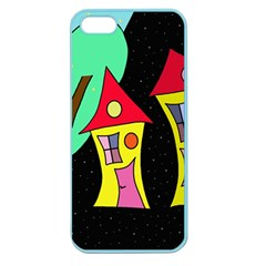 Two houses 2 Apple Seamless iPhone 5 Case (Color)