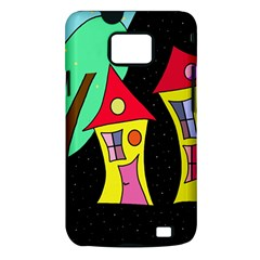 Two houses 2 Samsung Galaxy S II i9100 Hardshell Case (PC+Silicone)