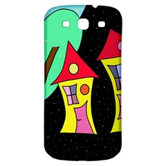 Two houses 2 Samsung Galaxy S3 S III Classic Hardshell Back Case
