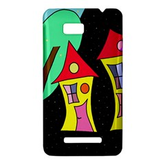 Two houses 2 HTC One SU T528W Hardshell Case