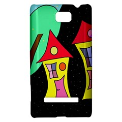 Two houses 2 HTC 8S Hardshell Case