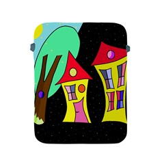 Two houses 2 Apple iPad 2/3/4 Protective Soft Cases