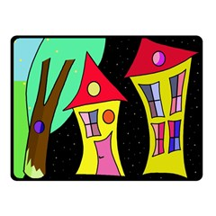 Two houses 2 Double Sided Fleece Blanket (Small)
