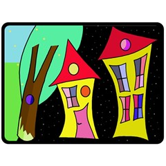 Two houses 2 Double Sided Fleece Blanket (Large)