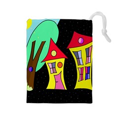 Two houses 2 Drawstring Pouches (Large)