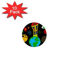 Playful universe 1  Mini Buttons (10 pack)