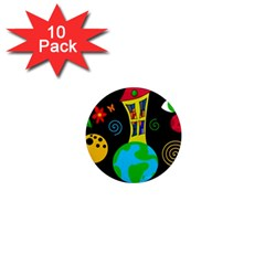 Playful universe 1  Mini Magnet (10 pack)