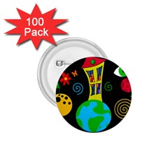 Playful universe 1.75  Buttons (100 pack)