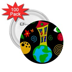 Playful universe 2.25  Buttons (100 pack)
