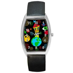 Playful universe Barrel Style Metal Watch
