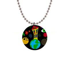 Playful universe Button Necklaces