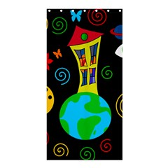 Playful universe Shower Curtain 36  x 72  (Stall)
