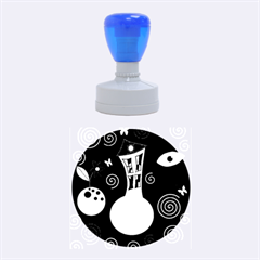 Playful universe Rubber Round Stamps (Medium)