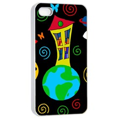 Playful universe Apple iPhone 4/4s Seamless Case (White)
