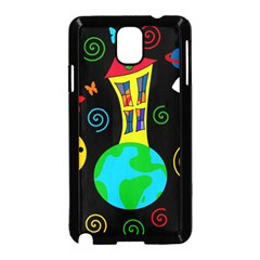 Playful universe Samsung Galaxy Note 3 Neo Hardshell Case (Black)