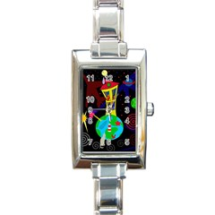 Colorful universe Rectangle Italian Charm Watch