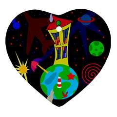 Colorful universe Ornament (Heart)
