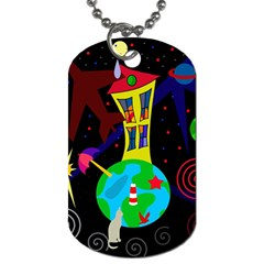 Colorful universe Dog Tag (Two Sides)