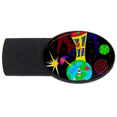 Colorful universe USB Flash Drive Oval (2 GB)