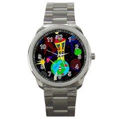 Colorful universe Sport Metal Watch