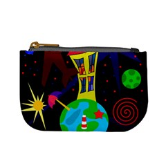 Colorful universe Mini Coin Purses