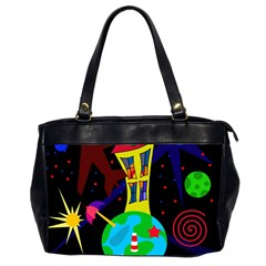 Colorful universe Office Handbags (2 Sides)