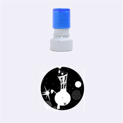 Colorful Universe Rubber Round Stamps (small)