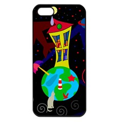 Colorful universe Apple iPhone 5 Seamless Case (Black)