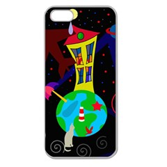 Colorful universe Apple Seamless iPhone 5 Case (Clear)