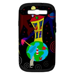 Colorful universe Samsung Galaxy S III Hardshell Case (PC+Silicone)