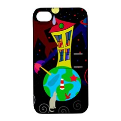 Colorful universe Apple iPhone 4/4S Hardshell Case with Stand