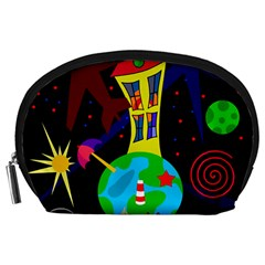 Colorful universe Accessory Pouches (Large)