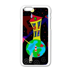Colorful universe Apple iPhone 6/6S White Enamel Case