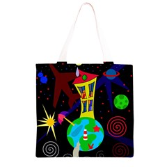 Colorful universe Grocery Light Tote Bag