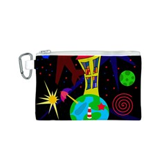 Colorful universe Canvas Cosmetic Bag (S)